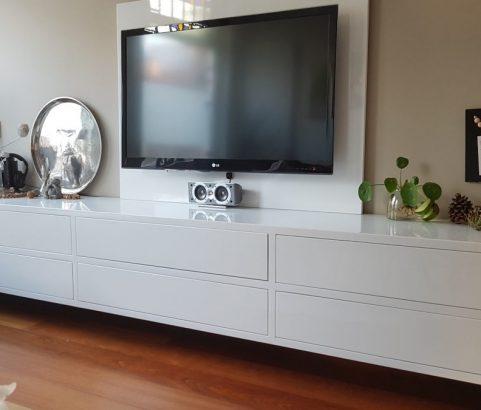 Televisiekast met achterpaneel en laden