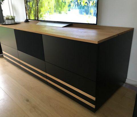 TV dressoir met luidsprekerdoek