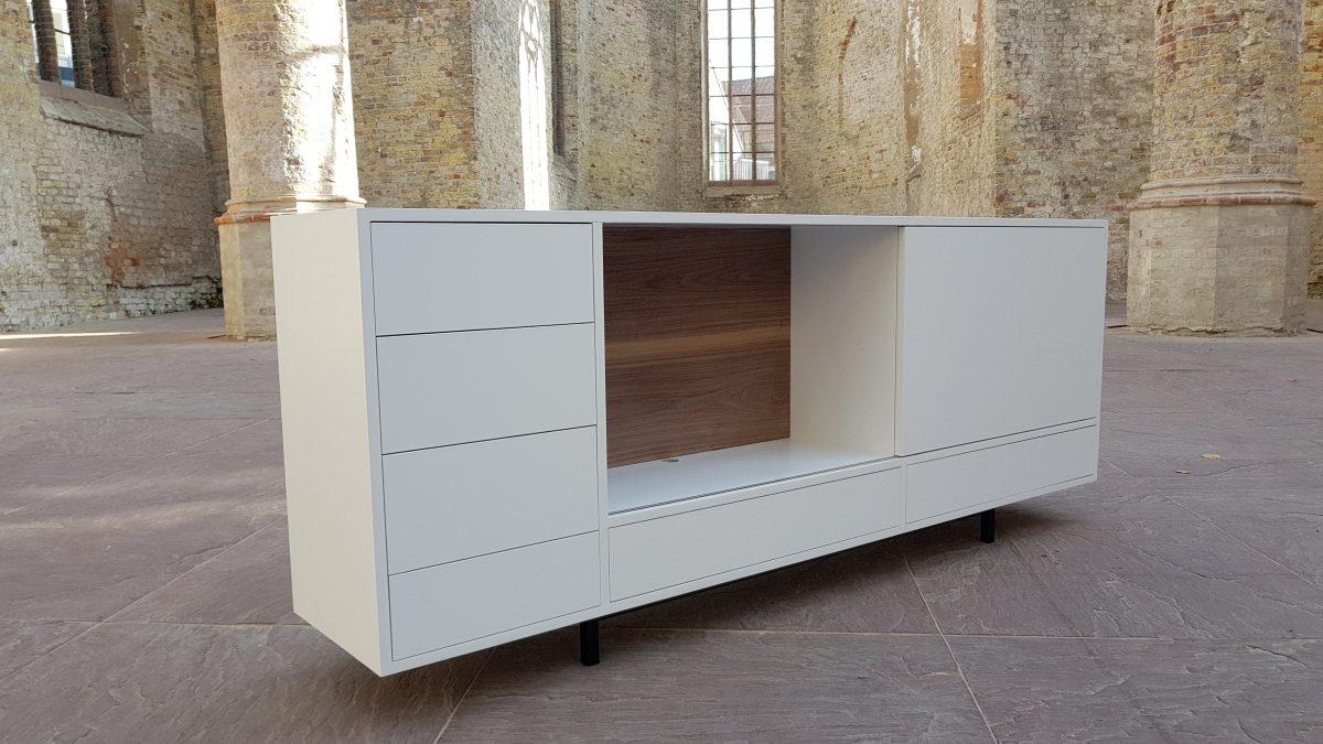 Schuifdeur Tv Kast : Tv meubel symphonie schuifdeur plankjes geoliede eik